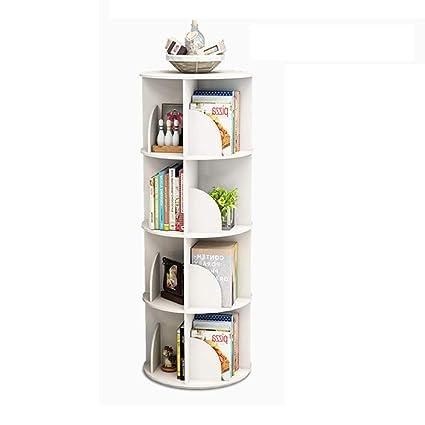 low priced 7ebf1 caa08 Amazon.com: Bookcases Creative Rotating Bookshelf White ...