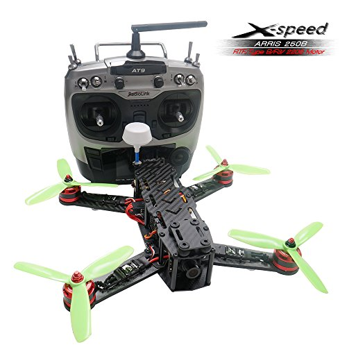 ARRIS X-Speed 250B 250mm Quadcopter Racer FPV 250 Racing Drone RTF With F3 Flight Controller + HD Camera + FPV TX + Radiolink AT9 Transmitter