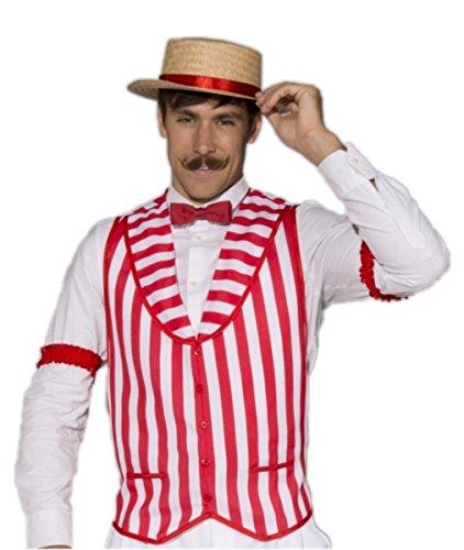 Patriotic Barber Shop Quartet Red and White Vest