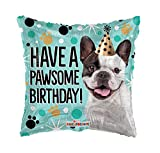 Boston Terrier French Bulldog Dog - Have a Pawsome Birthday Balloon - Gift Party Decoration