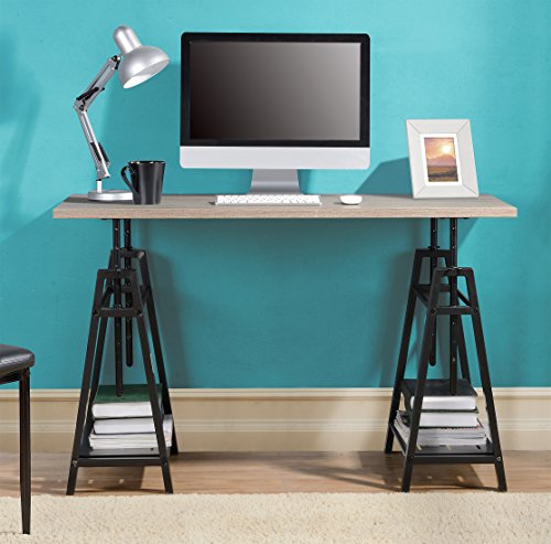 (HOMESTAR Z1430261 Desk, 47.2 x 23.2 x 29.9 inches, Reclaimed Wood)