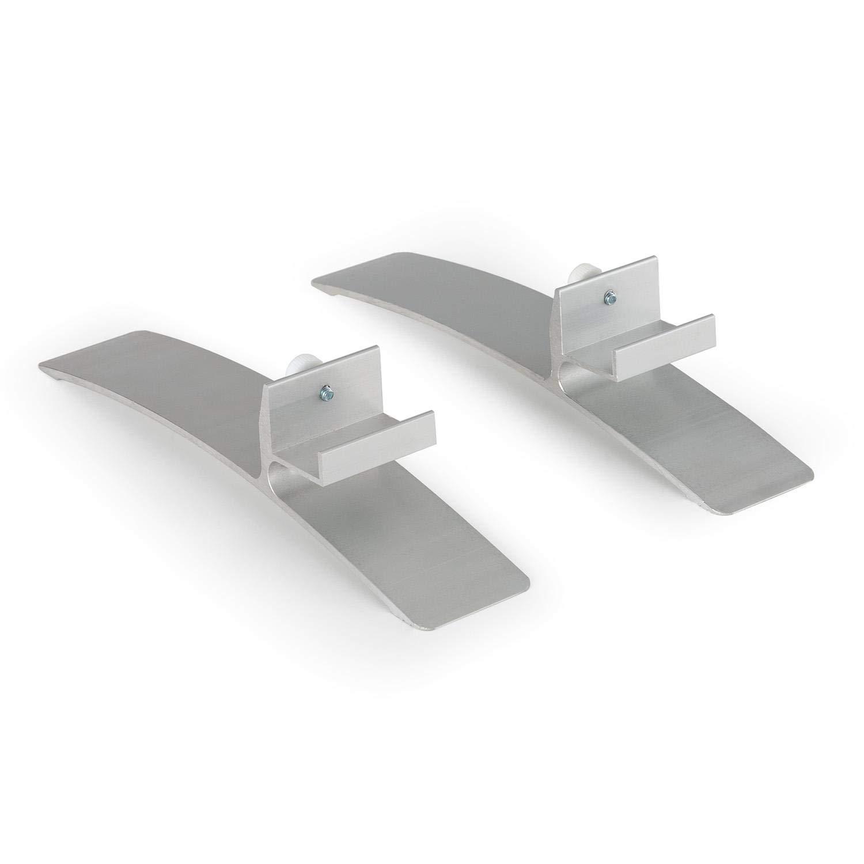 Klarstein Wonderwall Standfüße für Wonderwall Infrarot-Heizung • Kunststoff • 2 Stück • Zubehör • silber