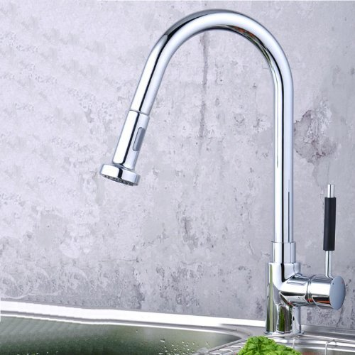 Lightinthebox Single Handle Centerset Pull Out Kitchen Sink Faucet with Versatile and Swivel Sprayhead Chrome Pull Down Kitchen Sink Faucet with Sprayer Unique Desinger Vanity Cooper Basin Drain