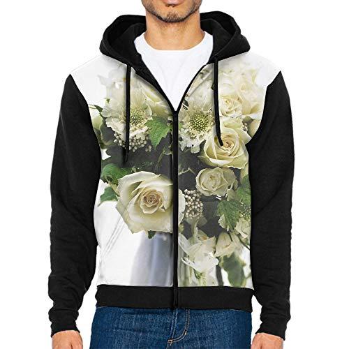 (MALBX Men/Women 3D Printed Hoodies Pullover Funny Graphic Sweater Sweatshirts Fleece Hoody Bouquet Roses Wedding Bouquet)