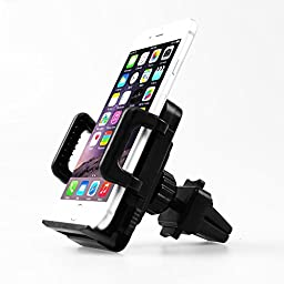 Universal Air Vent Mount Car Phone Holder - 360° Rotation. Cradle Holds All Smartphones including iPhone, Android, Blackberry and GPS Devices.