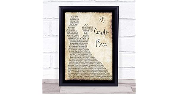 Amazon.com : El Cerrito Place Man Lady Dancing Song Lyric Quote Print : Office Products