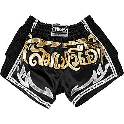 Top King Retro Muay Thai Shorts Black