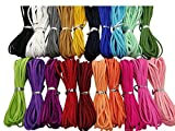 100 Yards 20 Bundles 2.6mm Suede Korean Velvet Leather Thread (Color-2) #205