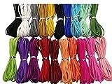 100 Yards 20 Bundles 2.6mm Suede Korean Velvet Leather Thread (Color-2) #205