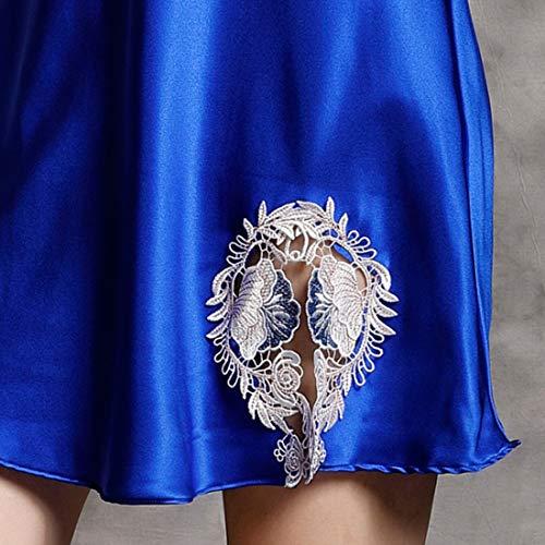 Mallty 100 Para 03 Damas Encaje Pijama Hogar Size De L Servicio Sexy El 02 En Seda Camisón color Informal rpXr0w