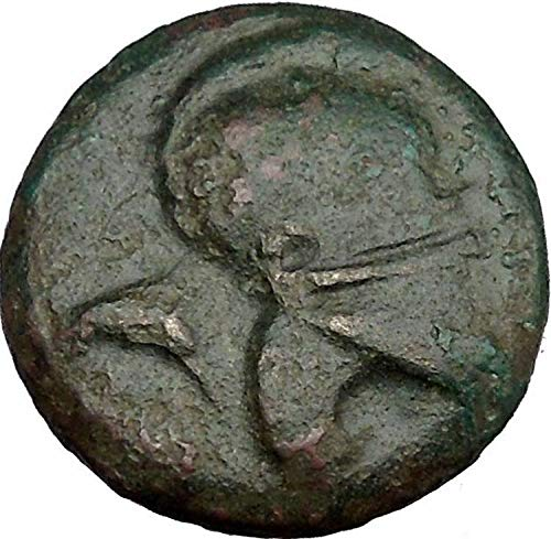 300 GR MESEMBRIA 300BC Corinthian Helmet & Wheel Authent coin Good