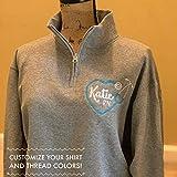 personalized nurse name and degree credentials quarter zip sweatshirt gift for nursing graduate