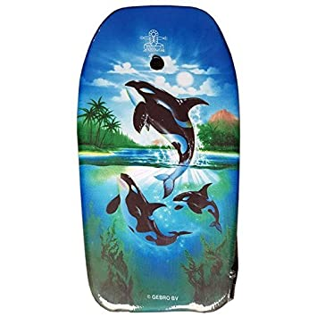 lively moments Bodyboard Peces 102cm / Body Board / Tabla de Surf / Kickboard con 3 Orcas: Amazon.es: Juguetes y juegos