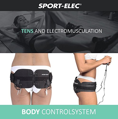 Abs and Body Workout Fitness Belt - FDA Cleared to Tone and Firm Abdominal Muscles - Electric Stimulation Muscle, Waist Trimmer - UNISEX (Electro Gel Included) by CC Venture (Image #3)'