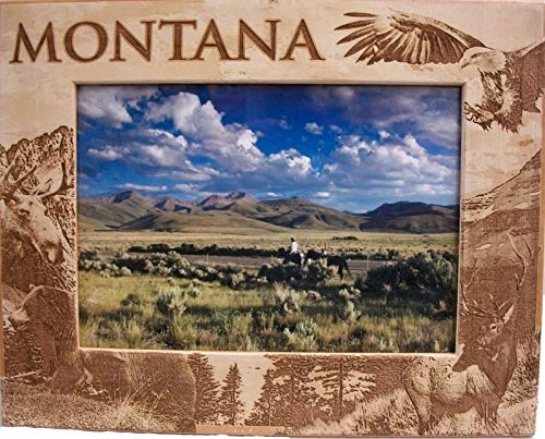 Montana Laser Engraved Wood Picture Frame (5 x 7) ()