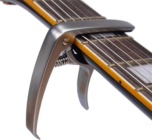Hjyi Cejilla Guitarra,Capo Guitarra variación Clip Multifuncional ...