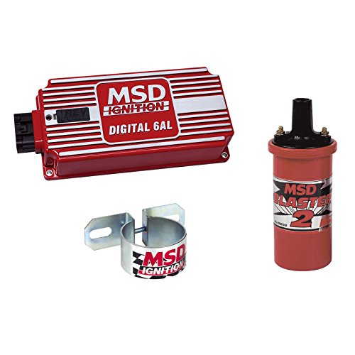 Price comparison product image MSD 6425-K Ignition Kit Digital 6AL Box Blaster 2 Coil Universal Coil Bracket