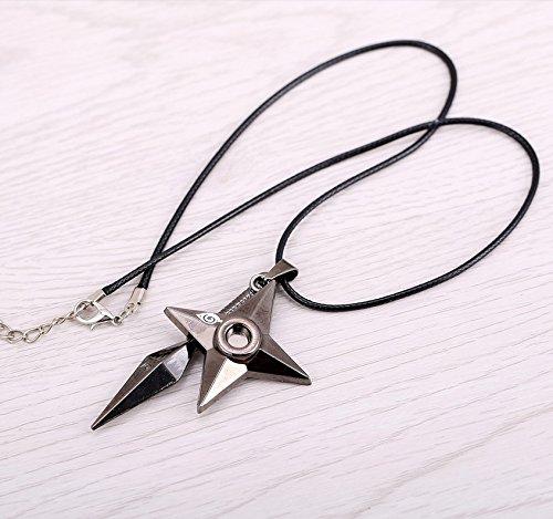 Lureme®Fashion Silver Alloy Shuriken from Kindgom Hearts Pendant Necklace
