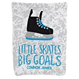 Hockey Baby & Infant Blanket | Little Skates Big Goals | Carolina