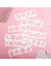 Professional stencils Multi-functional Drawing Stencils Straight & Wavy Lines Rulers Hollow Out Design PP Templates Reusable for Children Students DIY Painting Craft