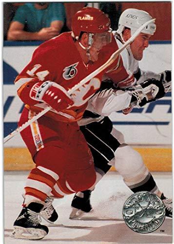 1991-92 Pro Set Platinum Calgary Flames Team Set with Theo Fleury & 2 Al MacInnis - 12 NHL Cards