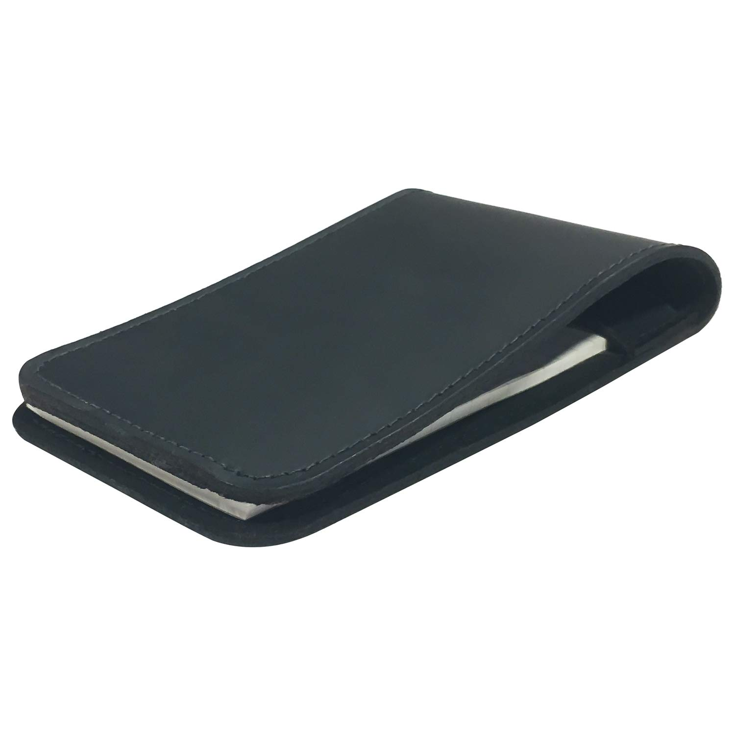 Memo Pad Cover & Holder, 3.5-Inch X 5.5-Inch Pocket Notebook, Includes One 3X5 Memo Pad by Boston Leather (Image #2)