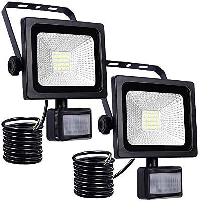 10W Foco LED con Sensor Movimiento Foco Exterior Led Con Sensor ...