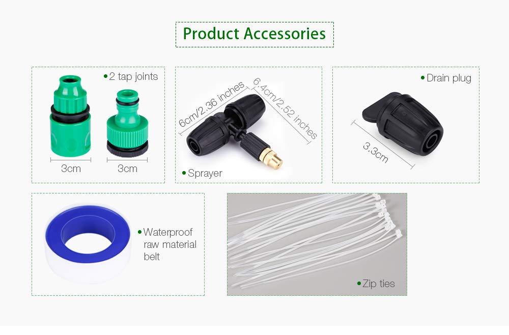 color:NERO,size:10 PEZZI zhang-hongjun,Serratura regolabile Micro-ugello Sprinkler Sistema di estinzione antincendio Suite per aiuole//cortili//giardino Piante da serra