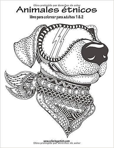 🌟 Descargar ebook gratis Animales étnicos libro para colorear para ...
