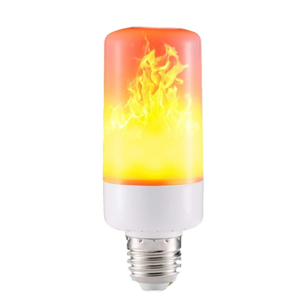 Flame Lamps, E26 Vivid Fire Effect Light Bulb, 3 Modes Flicker Simulated Flame Light Bulbs for Christmas, Holiday Party & Bar Decoration