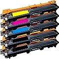 Toner Tech TN221 TN225 Premium High Yield Toner Cartridges Set for Brother HL-3140, HL-3140CW, HL-3170, HL-3170CDW, MFC-9130, MFC-9130CW, MFC-9330, MFC-9330-CDW, MFC-9340, MFC-9340CDW