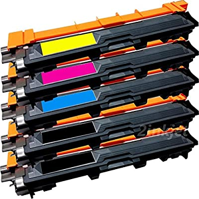 Toner Tech TN221 TN225 Premium High Yield Toner Cartridges Set for Brother HL-3140, HL-3140CW, HL-3170, HL-3170CDW, MFC-9130, MFC-9130CW, MFC-9330, MFC-9330-CDW, MFC-9340, MFC-9340CDW