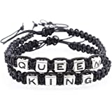 2in1 King And Queen Couple Handmade Bracelet His Hers Charm Bracelet Bangle Gift WelcomeShop