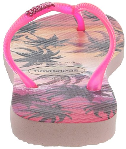 6615 Pink Slim Femme Tongs Paisage Multicolore pearl Havaianas wxB0qA6zz