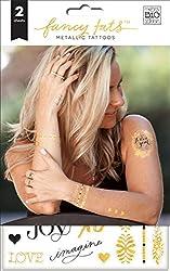 me & my BIG ideas Fancy Tats Grateful Temporary Tattoos