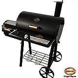 """'Route US 66BBQ Barbecue affumicatore """"Texas barbecue XL Premium con 2Fornaci-119x 66x 135cm"""