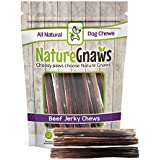 Nature Gnaws Junior Jerky Sticks 5-6 inch (15 Count) - 100% Natural Beef Chews for Small Dogs