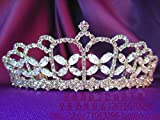 Generic Princess new fashion custom import diamond crown tiara bridal headdress hair accessories wedding pageant gold and silver powder