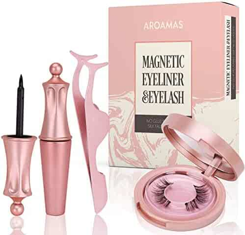Magnetic Eyeliner and Magnetic Eyelash Kit, No Glue Reusable Silk False Lashes, Easier To Use Than Traditional Magnetic Eyelashes