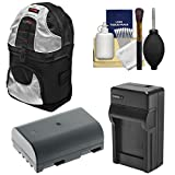 Essentials Bundle for Panasonic LUMIX DC-G9, DC-GH5, DC-GH5s, DMC-GH4 Digital Cameras with Sling Backpack Case + DMW-BLF19E Battery & Charger + Kit