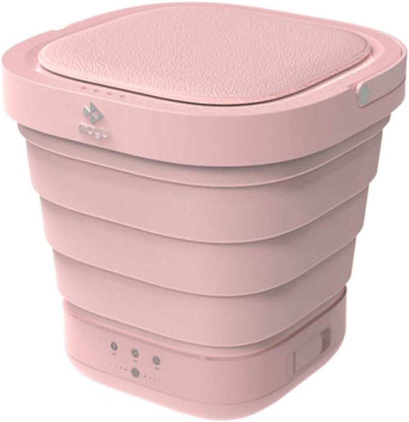 Seau Automatique de Voyage /à la Maison de Voyage Autonome Conduite sous-v/êtements laveuse et s/écheuse Pliables,Pink DjfLight Mini Machine /à Laver Pliante portative de v/êtements