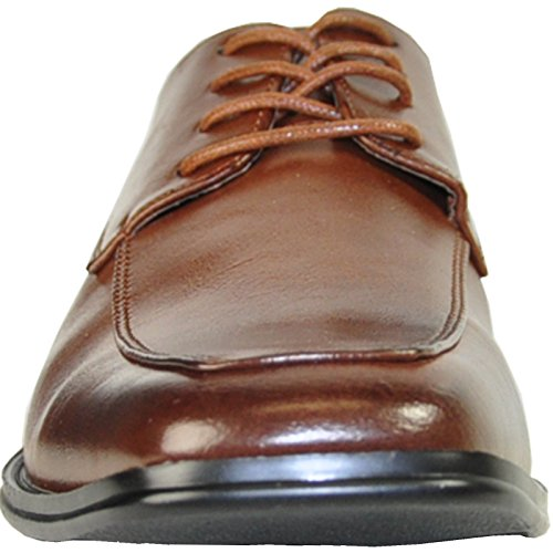 Bravo Men Dress Scarpa Milano-2 Classic Oxford Con Punta Quadrata E Fodera In Pelle Marrone