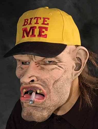 (Zagone Dude Mask, Rugged mans face with baseball)