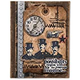 Sizzix Tim Holtz Alterations Collection Framelits Die with Clear Acrylic Stamp Set Possibilities (4 Pack)