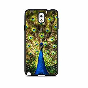 Peacock Blue Galaxy Note 3 Rubber Phone Case