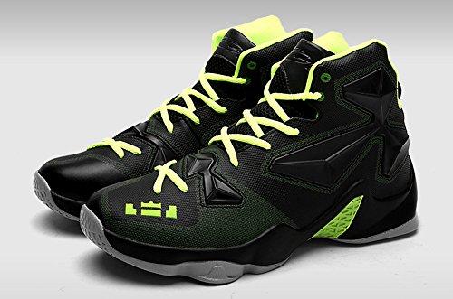 JiYe Performance Sportschuhe Herren Basketball Fashion Sneakers Schwarz Grün