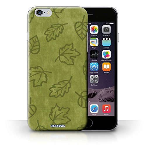 Hülle Case für iPhone 6+/Plus 5.5 / Grün Entwurf / Blatt Muster/Textil Effekt Collection