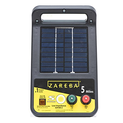 - Zareba ESP5M-Z 5-Mile Solar Low Impedance Electric Fence Charger