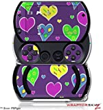 Crazy Hearts - Decal Style Skins (fits Sony PSPgo)