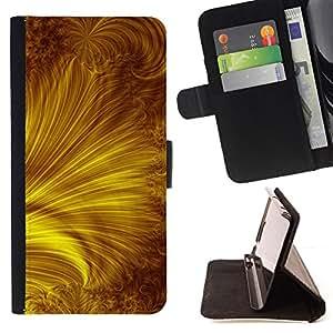 - yellow gold rays abstract/ Personalizada del estilo del dise???¡¯???¡Ào de la PU Caso de encargo del cuero del tir???¡¯????n del s - Cao - For Samsung